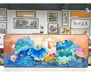 广州海珠区 翠鸟幽香 油画装裱