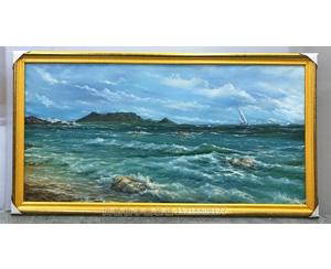 广州天河区 油画山水画 装裱画框