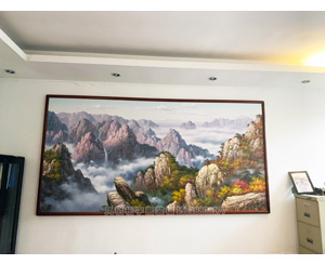 广州萝岗区 3.2米长 朝鲜油画装裱