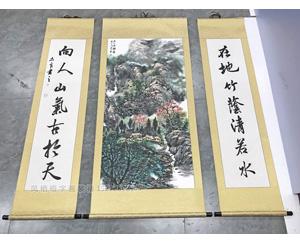 广州萝岗区 中堂挂画 装裱卷轴