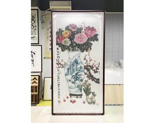 汕头中国画院国画牡丹装裱《春芯如诗》