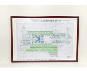 广州 白云国际机场 图表装裱画框