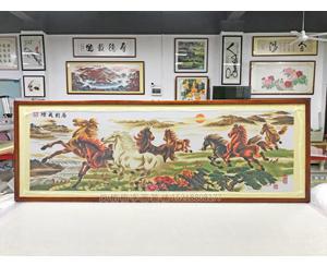 广州增城区 十字绣装裱 马到成功 新一代十字绣软裱